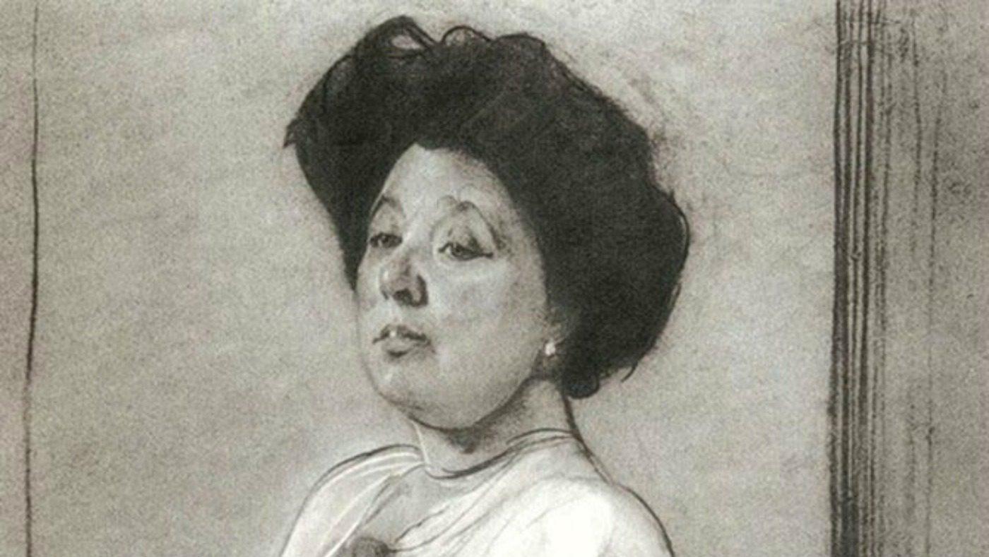 Ritratto a matita di Nedezhda Lamanova