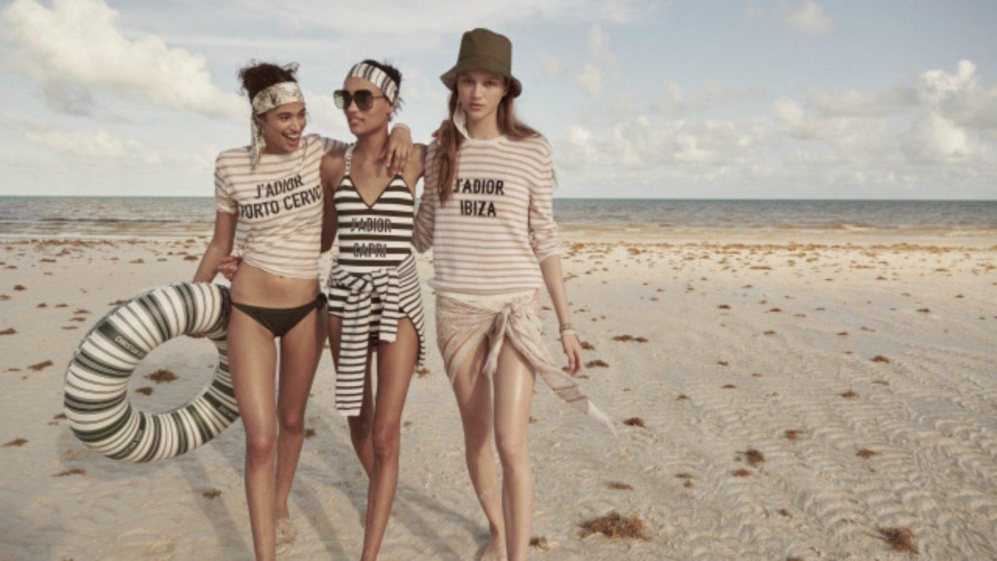 T-shirt e costumi linea Dior Beachwear