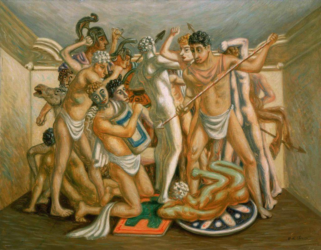 Mame arte MILANO OMAGGIA DE CHIRICO A PALAZZO REALE Giorgio de ChiricoCombattimento (Gladiatori)