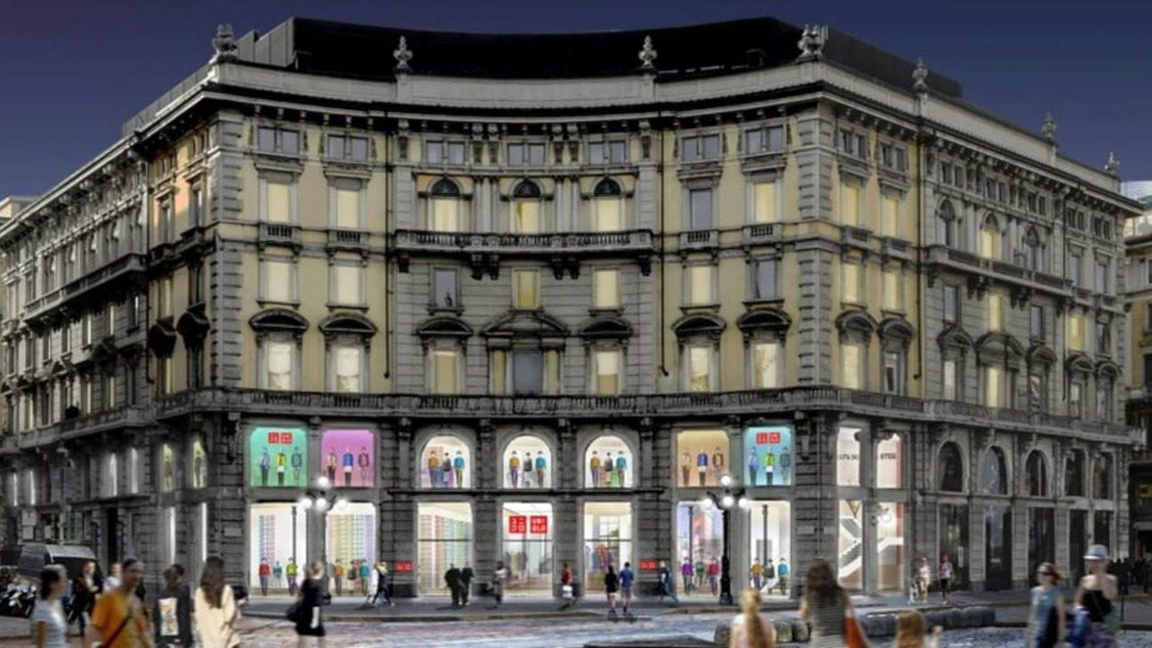 Facciata store Uniqlo a Milano