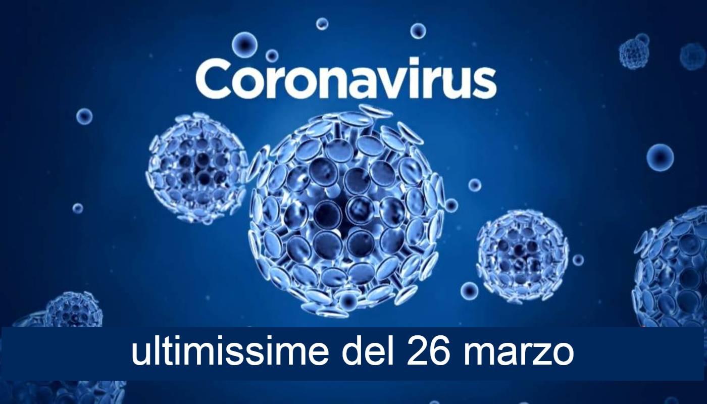 coronavirus dati 26 marzo