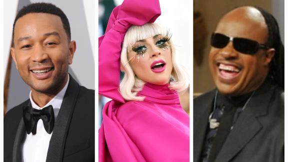 Lady Gaga John Kegend e Steve Wonder, tre delle innumerevoli star di One World Together