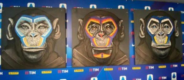 Molto attuale la polemica sul trittico di scimmie contro il razzismo di Simone Fugazzotto