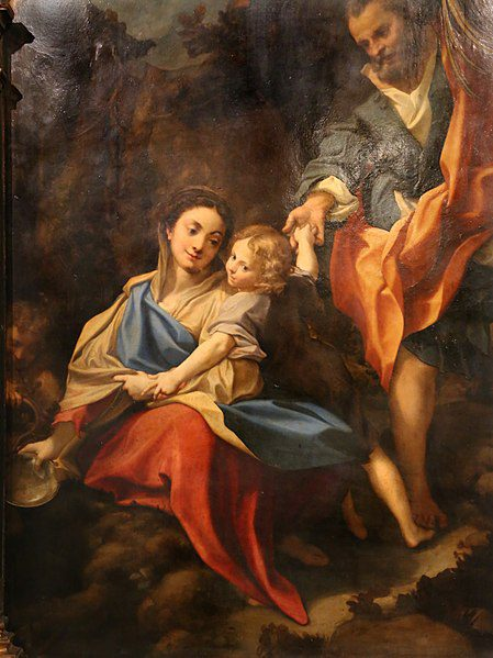 Correggio: La Madonna della Scodella. Riposo durante a fuga in Egitto