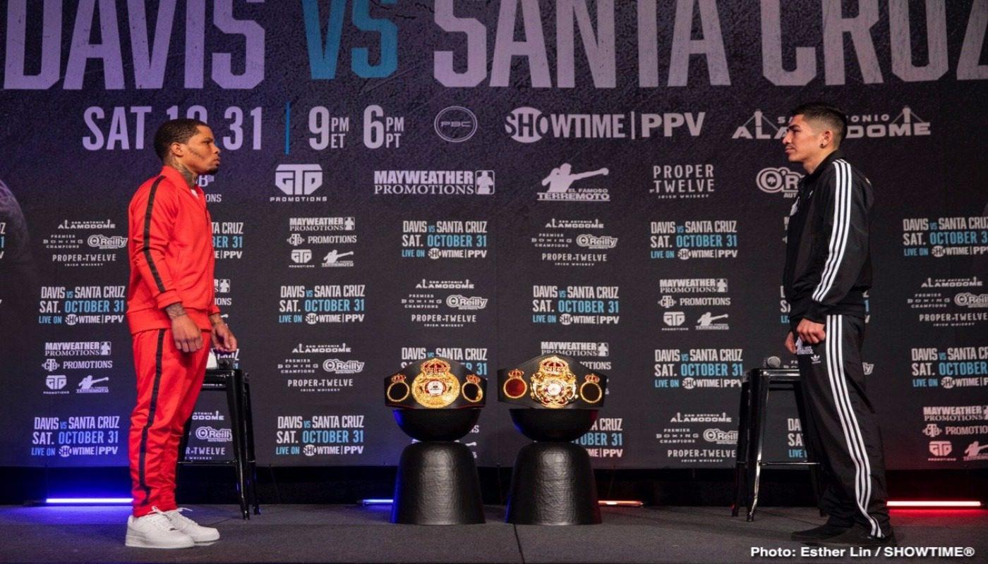 Gervonta Davis vs Santa Cruz