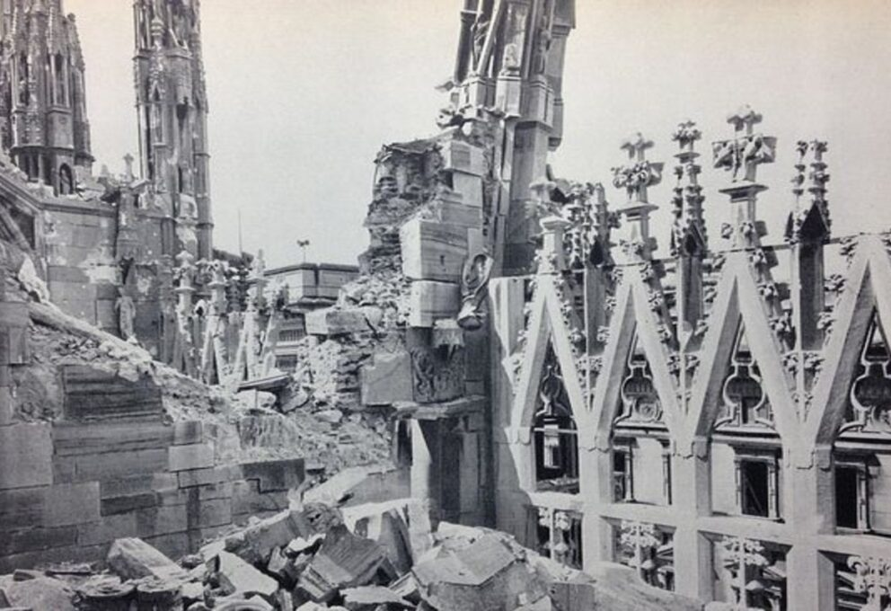 Mostra fotografica alle Gallerie d'Italia: la Milano bombardata