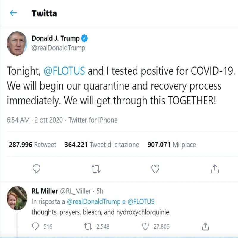 Trump positivo Covid