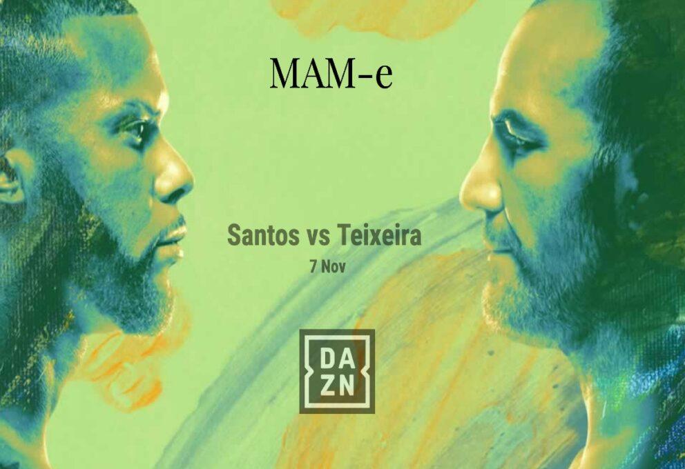 Santos vs Teixeira: Submission di Teixeira e si aggiudica il match UFC