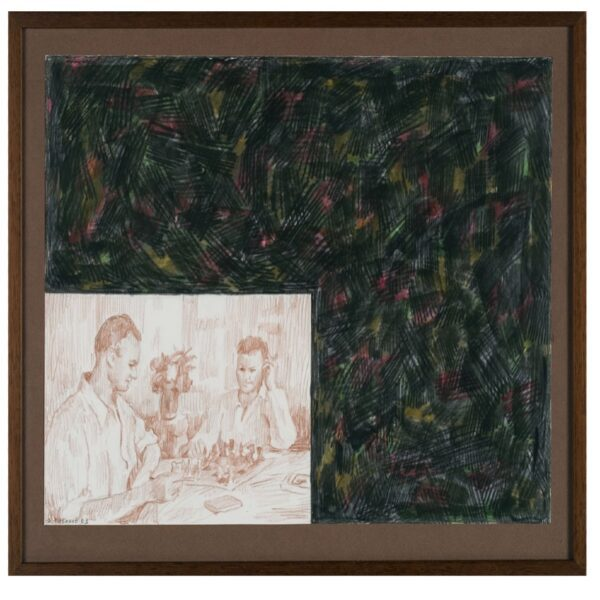 Ilya and Emilia Kabakov The Chess Game, 2003 Drawing, colour pencils on paper 27x36,5 cm