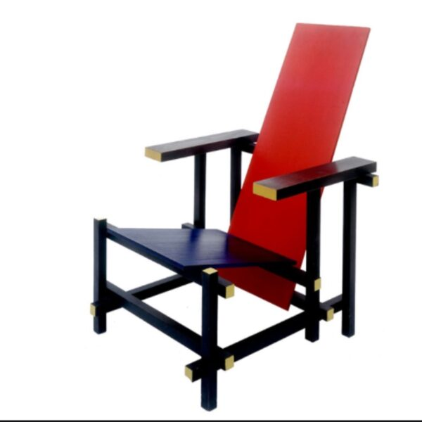 """poltrona """"Hoge"""" di Gerrit Rietveld"""