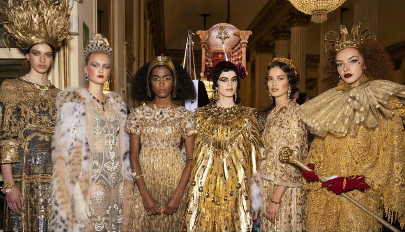 Alta Moda Dolce&Gabbana omaggiano l'opera