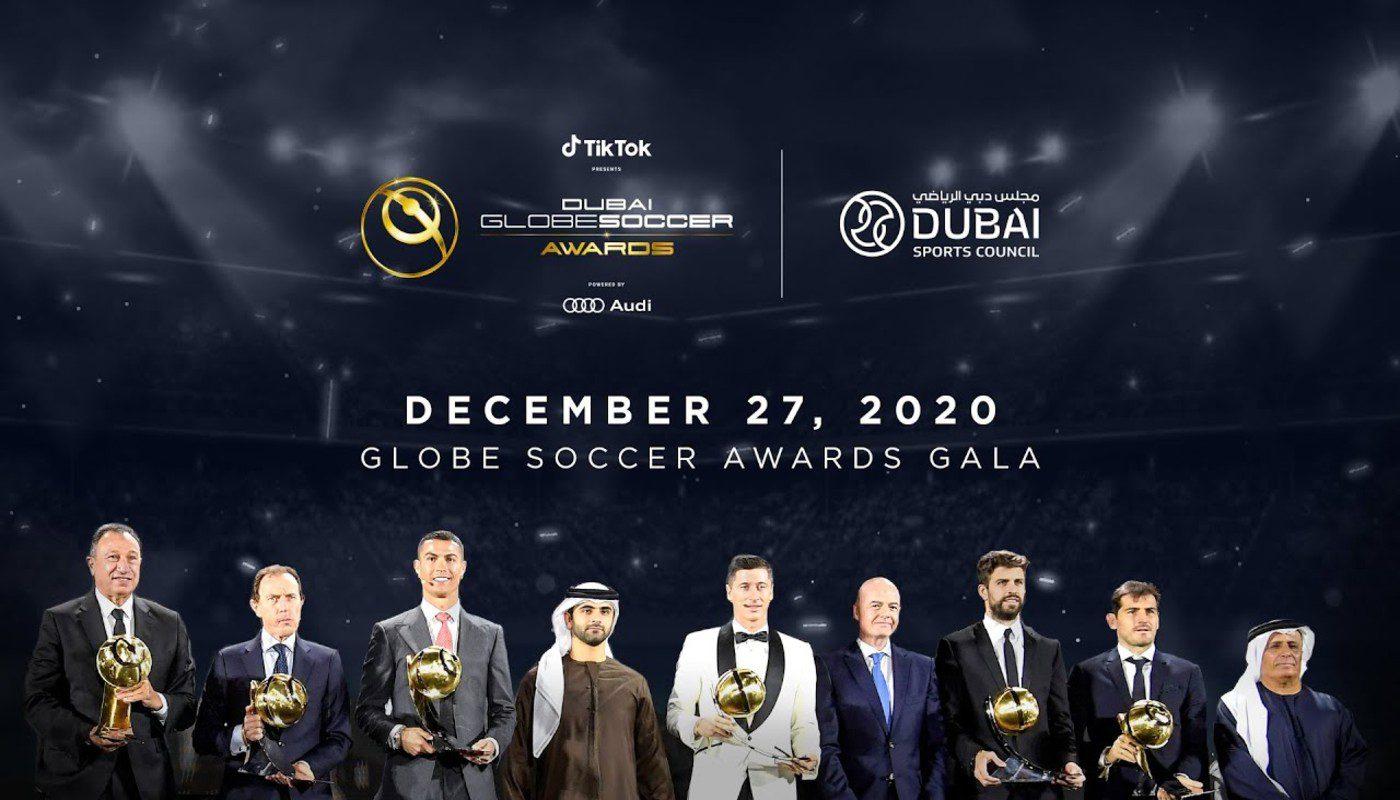 premiazione globe soccer awards 2020