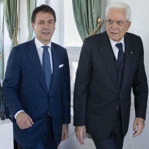 Giuseppe Conte e Sergio Mattarella