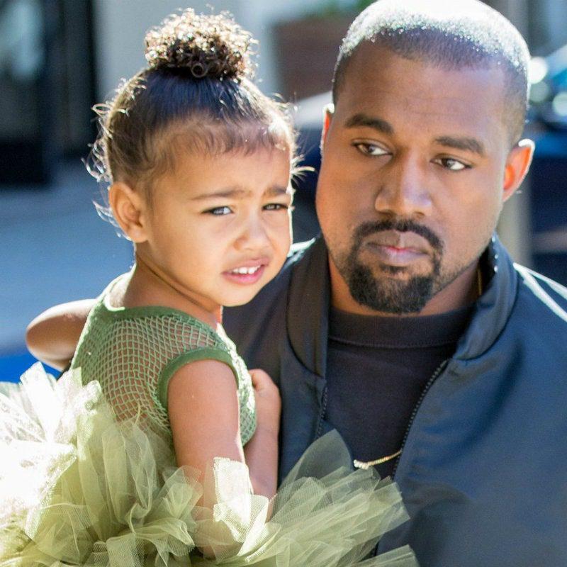 Kanye con la figlia North