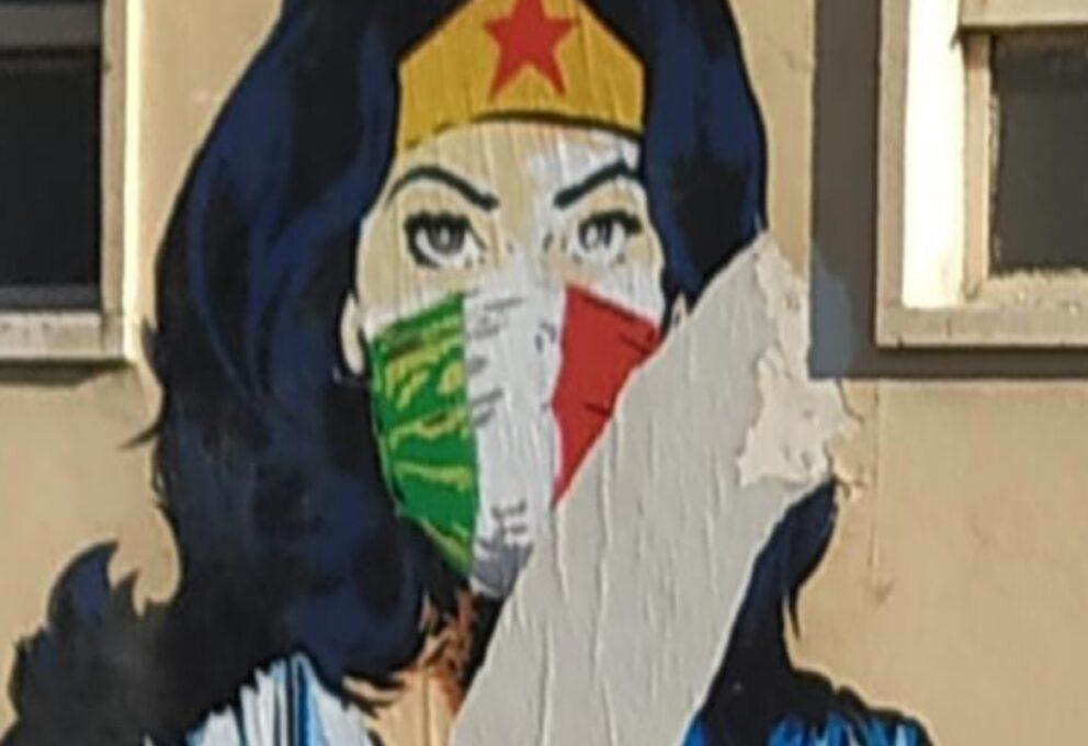 Wonder Woman – il murales di Codogno sfregiato dai vandali