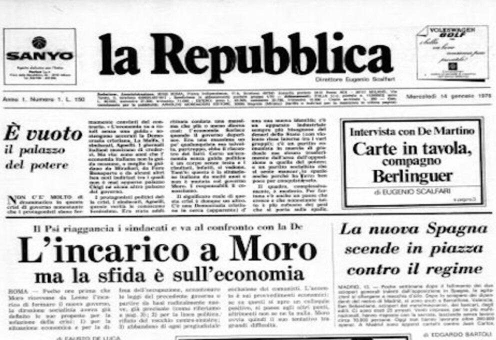 Anniversario la Repubblica: a 45 anni dal primo numero nel 1976