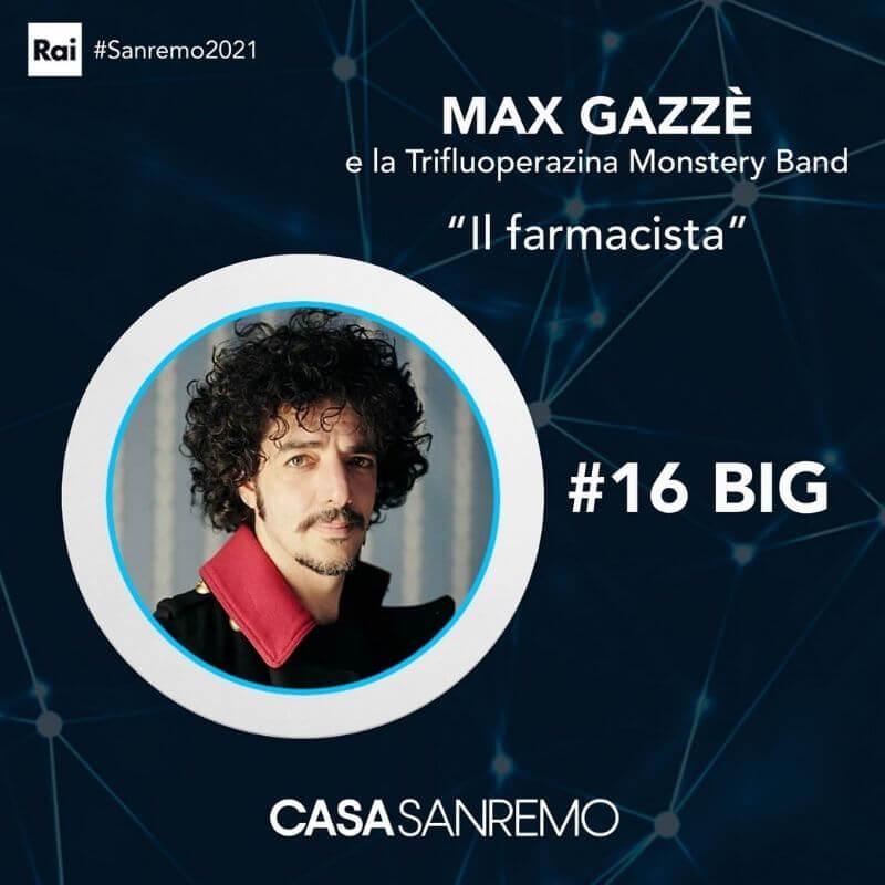 Max Gazzè tra i 16 Big di Sanremo 2021 con Il Farmacista